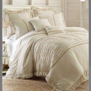 Beige Antonella 8 Piece Queen Comforter Set